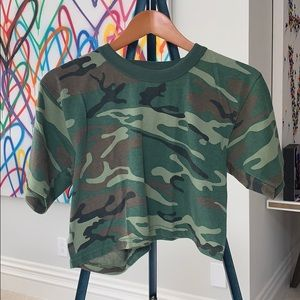 Tops - camo t shirt